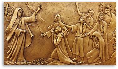 Mary Magdelene Proclaims the Resurrection of Jesus. By Margaret Beaudette, SC