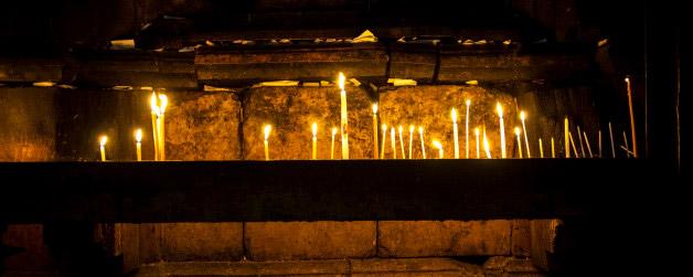 Jesus' tomb in the dark