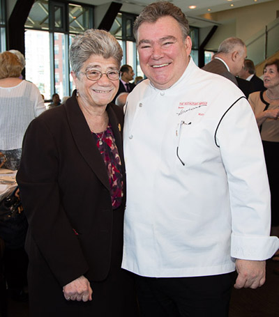 Sr. Jane Iannucelli and Executive Chef/Owner Peter Kelly