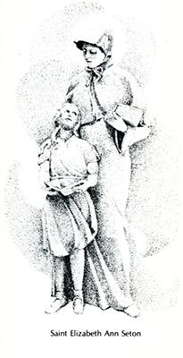 St. Elizabeth with school girl