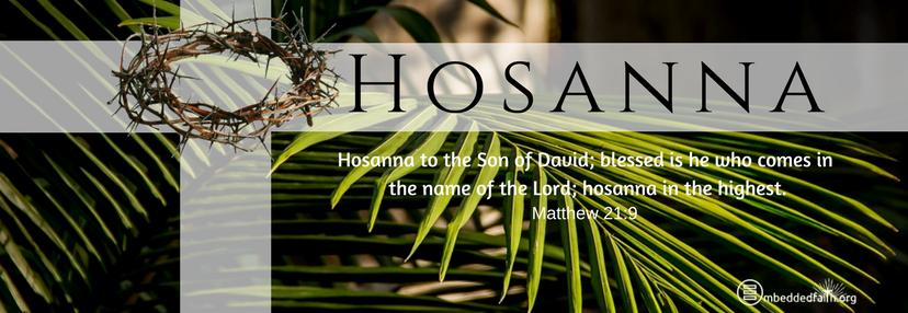 Hosanna to the Son of David... Palm Sunday
